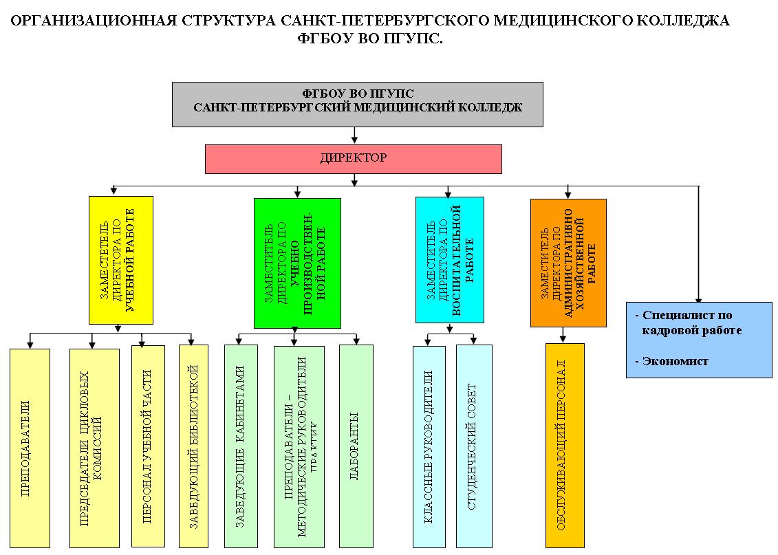 Структура медицинского колледжа